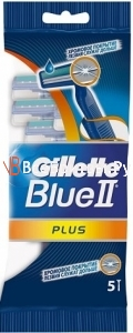"Gillette одноразовые станки ""Blue II Plus"" 5шт"